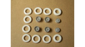 10 Hole Alcoa Aluminum Wheel Set